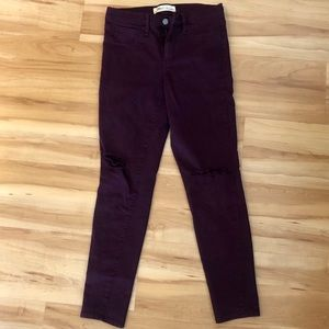 Magenta ripped knee GAP jeans